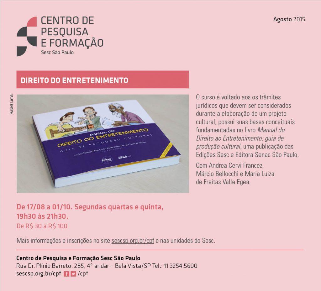2015-07-22 - curso Direito do Entretenimento SESC